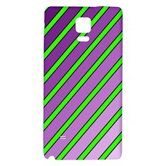Purple And Green Lines Galaxy Note 4 Back Case by Valentinaart