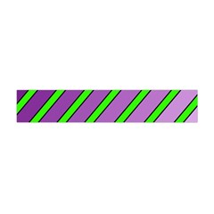 Purple And Green Lines Flano Scarf (mini) by Valentinaart