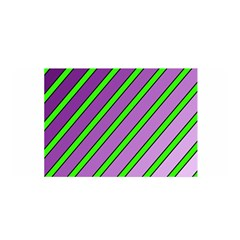 Purple And Green Lines Satin Wrap by Valentinaart