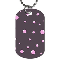 Pink Bubbles Dog Tag (one Side) by Valentinaart