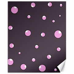 Pink Bubbles Canvas 16  X 20   by Valentinaart