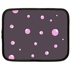 Pink Bubbles Netbook Case (xxl)  by Valentinaart