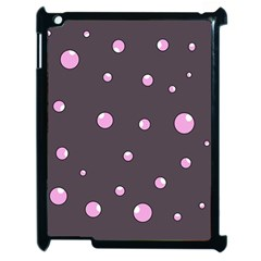 Pink Bubbles Apple Ipad 2 Case (black) by Valentinaart