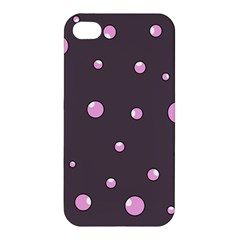 Pink Bubbles Apple Iphone 4/4s Premium Hardshell Case by Valentinaart