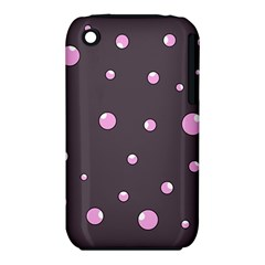 Pink Bubbles Apple Iphone 3g/3gs Hardshell Case (pc+silicone) by Valentinaart