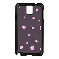 Pink Bubbles Samsung Galaxy Note 3 N9005 Case (black) by Valentinaart