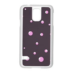 Pink Bubbles Samsung Galaxy S5 Case (white) by Valentinaart