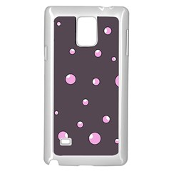 Pink Bubbles Samsung Galaxy Note 4 Case (white) by Valentinaart