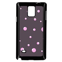 Pink Bubbles Samsung Galaxy Note 4 Case (black) by Valentinaart