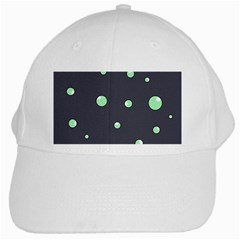 Green Bubbles White Cap by Valentinaart