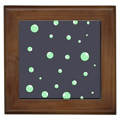 Green Bubbles Framed Tiles by Valentinaart