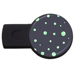 Green Bubbles Usb Flash Drive Round (2 Gb)  by Valentinaart