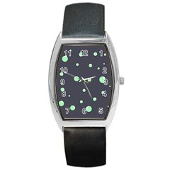 Green Bubbles Barrel Style Metal Watch by Valentinaart
