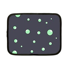 Green Bubbles Netbook Case (small)  by Valentinaart