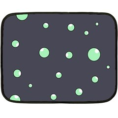 Green Bubbles Fleece Blanket (mini)