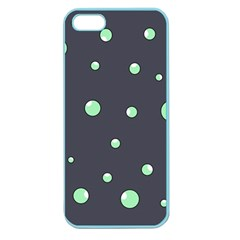 Green Bubbles Apple Seamless Iphone 5 Case (color) by Valentinaart