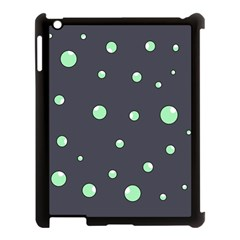 Green Bubbles Apple Ipad 3/4 Case (black) by Valentinaart