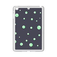 Green Bubbles Ipad Mini 2 Enamel Coated Cases by Valentinaart
