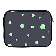 Green Bubbles Apple Ipad 2/3/4 Zipper Cases by Valentinaart