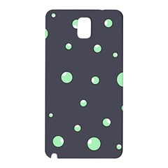 Green Bubbles Samsung Galaxy Note 3 N9005 Hardshell Back Case by Valentinaart