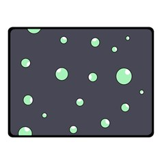 Green Bubbles Double Sided Fleece Blanket (small)  by Valentinaart