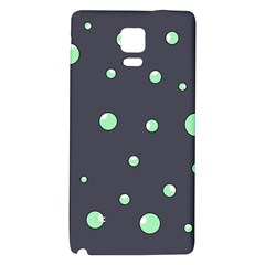 Green Bubbles Galaxy Note 4 Back Case by Valentinaart