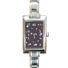 Blue Bubbles Rectangle Italian Charm Watch by Valentinaart