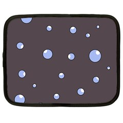 Blue Bubbles Netbook Case (large) by Valentinaart