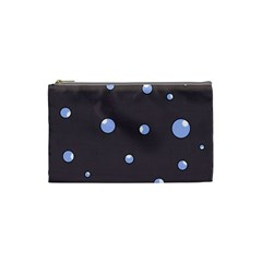 Blue Bubbles Cosmetic Bag (small)  by Valentinaart