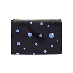 Blue Bubbles Cosmetic Bag (medium)  by Valentinaart