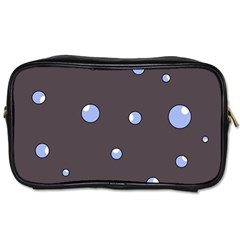 Blue Bubbles Toiletries Bags by Valentinaart