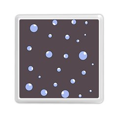Blue Bubbles Memory Card Reader (square)  by Valentinaart