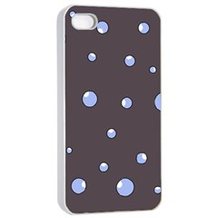 Blue Bubbles Apple Iphone 4/4s Seamless Case (white) by Valentinaart