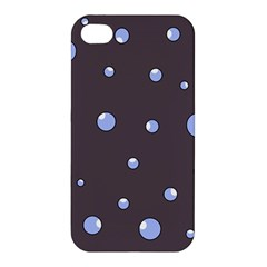 Blue Bubbles Apple Iphone 4/4s Hardshell Case by Valentinaart