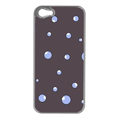 Blue Bubbles Apple Iphone 5 Case (silver) by Valentinaart