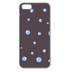 Blue Bubbles Apple Seamless Iphone 5 Case (clear) by Valentinaart