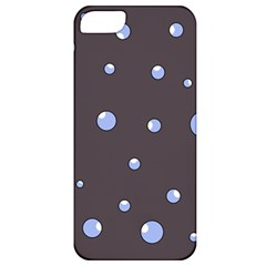 Blue Bubbles Apple Iphone 5 Classic Hardshell Case by Valentinaart