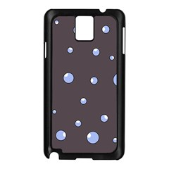 Blue Bubbles Samsung Galaxy Note 3 N9005 Case (black) by Valentinaart
