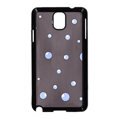 Blue Bubbles Samsung Galaxy Note 3 Neo Hardshell Case (black) by Valentinaart