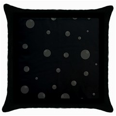 Gray Bubbles Throw Pillow Case (black) by Valentinaart