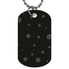 Gray Bubbles Dog Tag (two Sides) by Valentinaart