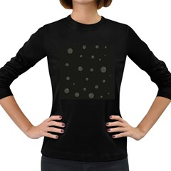 Gray Bubbles Women s Long Sleeve Dark T Shirts by Valentinaart