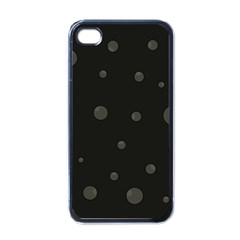 Gray Bubbles Apple Iphone 4 Case (black)