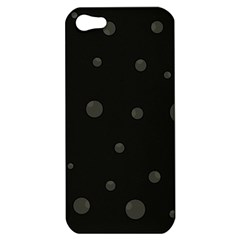 Gray Bubbles Apple Iphone 5 Hardshell Case by Valentinaart