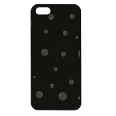 Gray Bubbles Apple Iphone 5 Seamless Case (black) by Valentinaart