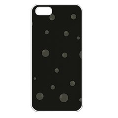 Gray Bubbles Apple Iphone 5 Seamless Case (white) by Valentinaart