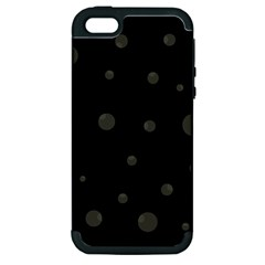 Gray Bubbles Apple Iphone 5 Hardshell Case (pc+silicone) by Valentinaart