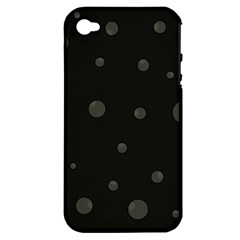 Gray Bubbles Apple Iphone 4/4s Hardshell Case (pc+silicone) by Valentinaart