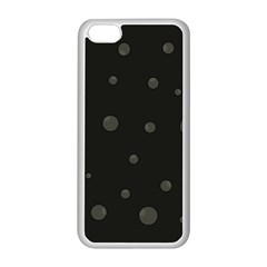 Gray Bubbles Apple Iphone 5c Seamless Case (white) by Valentinaart
