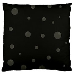 Gray Bubbles Large Flano Cushion Case (one Side) by Valentinaart